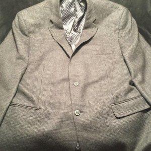 Jos A Bank Sport Coat Blazer Wool 48R Big & Tall